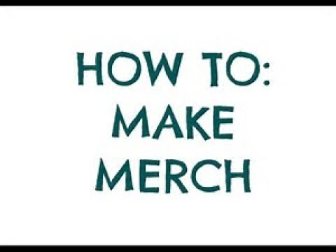 654e06fd How to make your own merchandise - YouTube