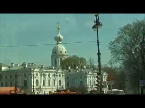Rusko 2015. Petrohrad z okna autobusu