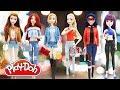 Play Doh Modern Style Disney Princess Elsa Anna Ariel Belle   Ladybug & Mal Descendants 2