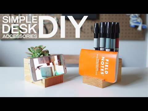 Build Your Own Desk Accessories With Leftover 4x4 Pieces