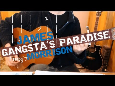 """Gangsta's Paradise"" (Coolio), James Morrison Cover. Video Lesson by Joe Moreg"