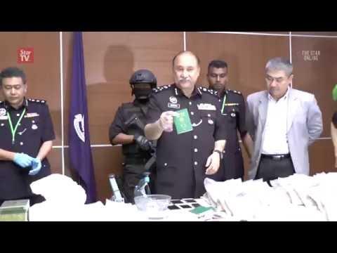 Police bust international drug syndicate, RM3mil drugs seized