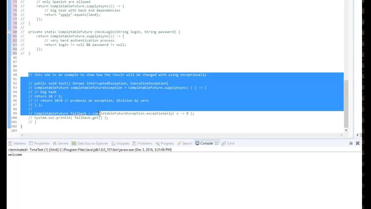 Completable Future Java 18 Demo Youtube