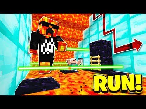 Minecraft 1V1 SUPER CRAZY LAVA RUN! With PrestonPlayz