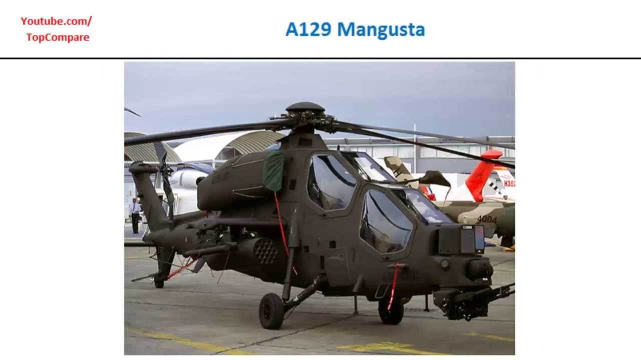 Elicottero T 129 : A129 mangusta compared to eurocopter tiger attack helicopter specs