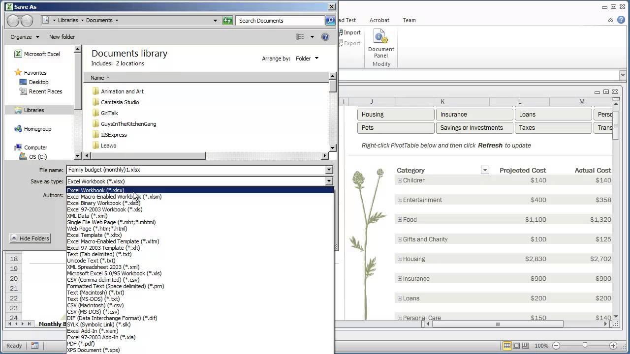 VBA Programming for Excel 2010 -- V1.04 - Saving a Macro-Enabled ...
