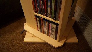Rotating DVD/BluRay Shelf (Pine)