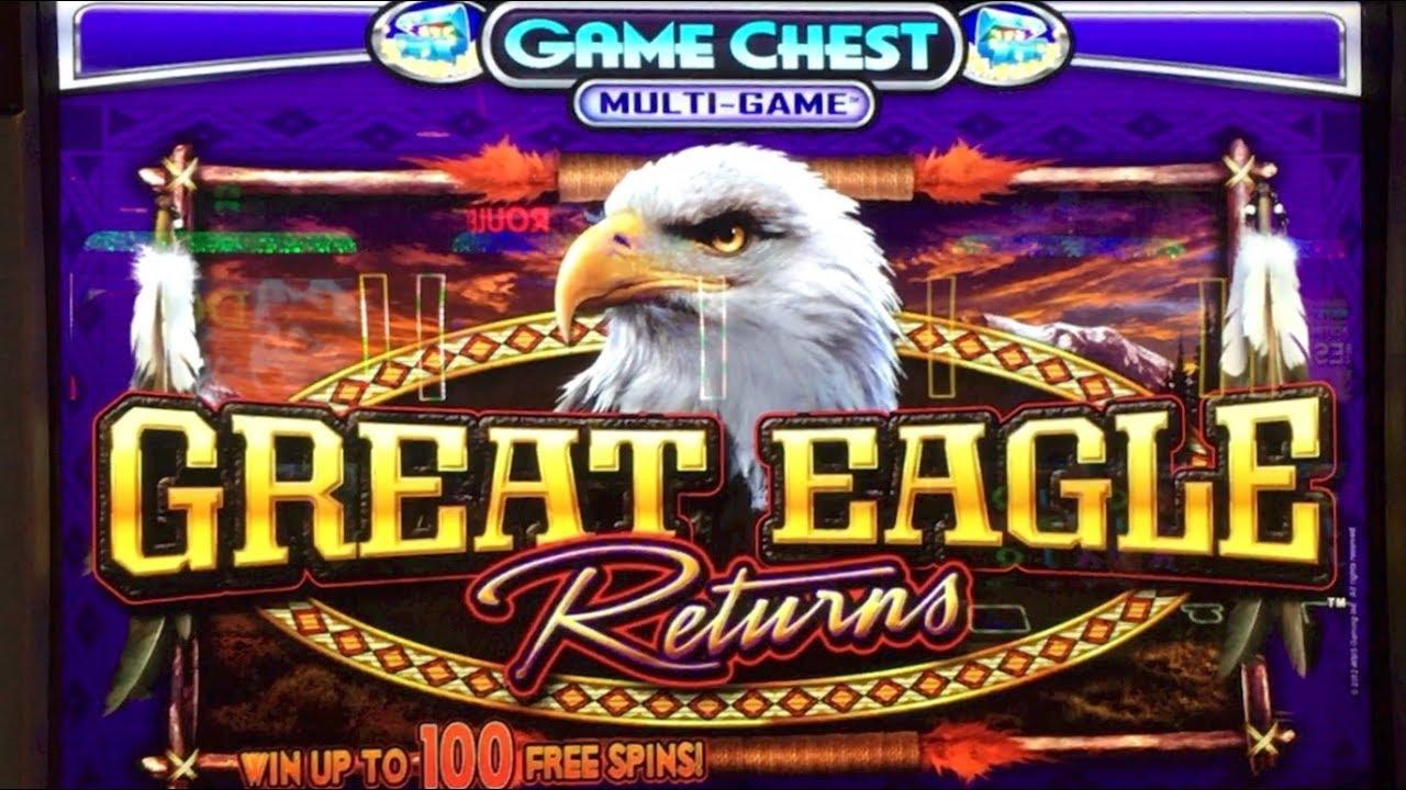 GREAT EAGLE RETURNS Slot Machine WMS - 4x Bonus 2x Good Win 1x Big ...