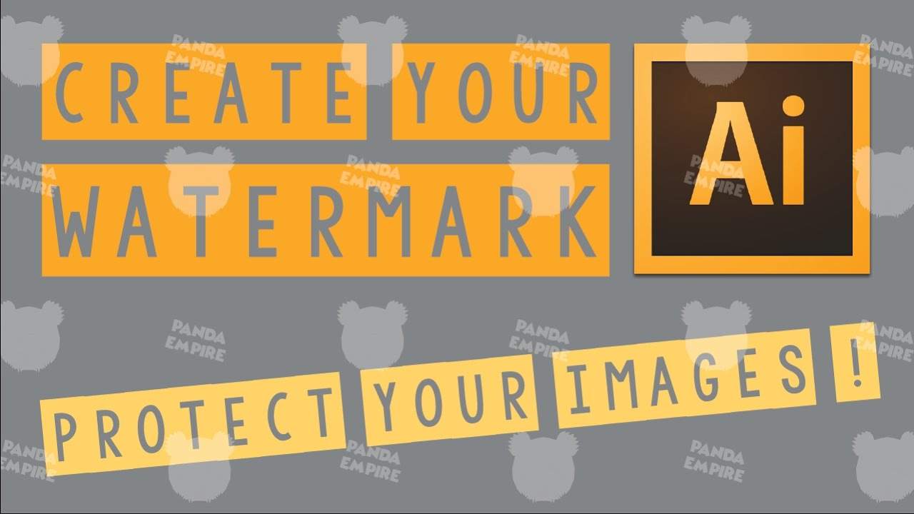 Protect images with your watermark in Adobe Illustrator