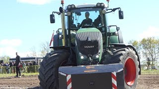 Fendt 936 Vario Working Hard To Get That Sledge to The Edge at Jerslev Arena   Tractor Pulling Dk