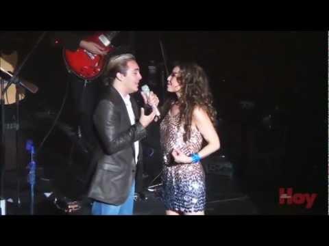 Cristian Castro sorprendió a Thalía en su concierto en Los Ángeles!