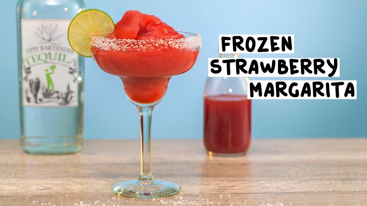 Frozen Strawberry Margarita Tipsy Bartender