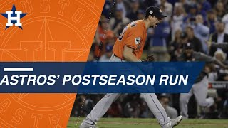 Look back at the Astros' epic 2017 run to win the WS
