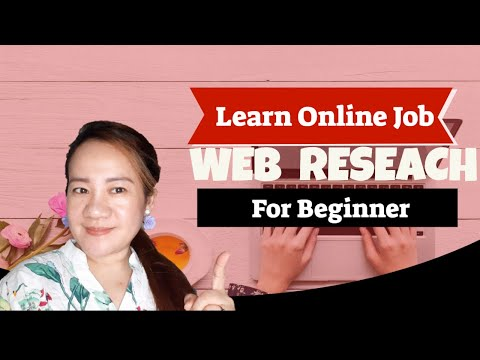 ONLINE JOB FOR BEGINNER - Web Research