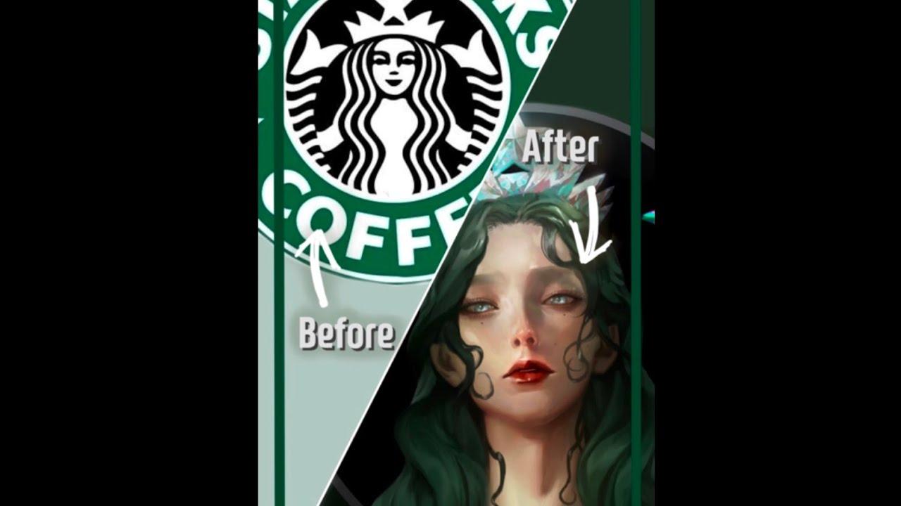 #shorts 스타벅스 로고 내스타일로 그리기! [Let's draw the Starbucks logo!]