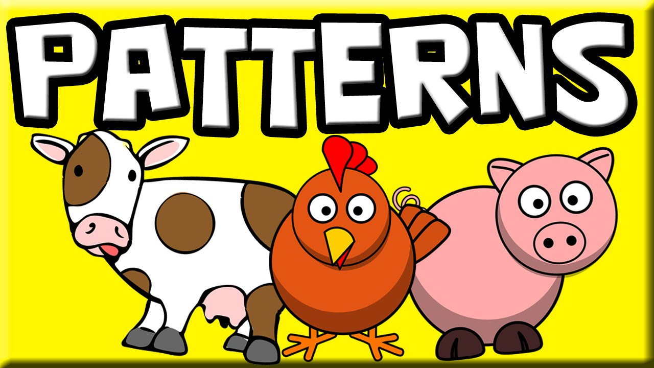Papercraft Patterns for Kids | Farm Animals | Patterns for Children | Patterns for Beginners | Learn Patterns