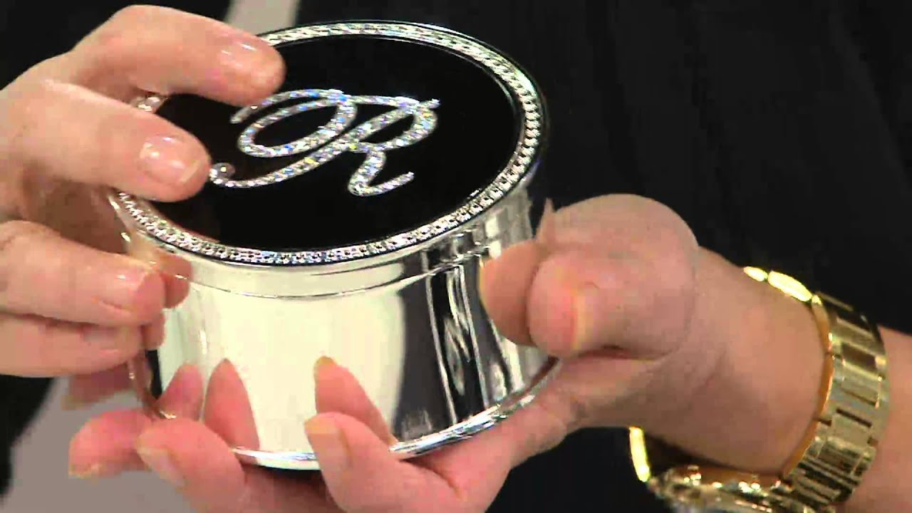 Safekeeper Crystal Initial Jewelry Box by Lori Greiner on QVC YouTube