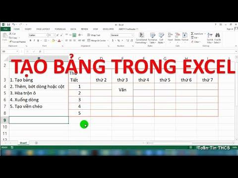 Tự Học Excel | Bài 4: Tạo Bảng Trong Excel