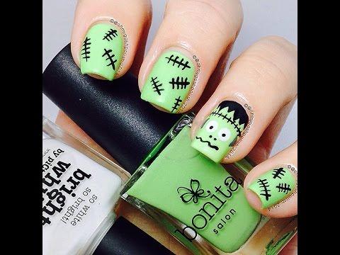 Frankenstein nail art - Frankenstein Nail Art - YouTube