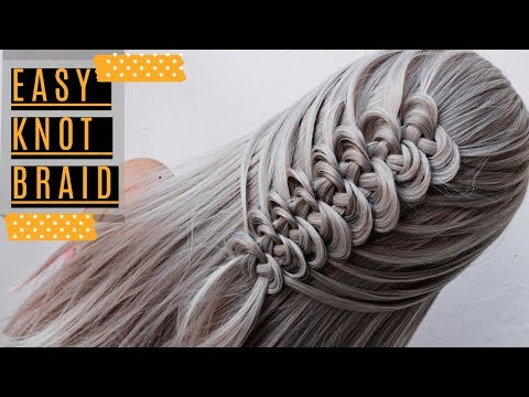 Easy Knotted Loop Crochet Braid by Another Braid Celtic Knot Hairstyle thumbnail