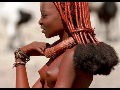 Himba tribal peoples life at Namibia