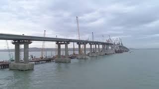 Крымский мост. Готовы все опоры автодорожного моста