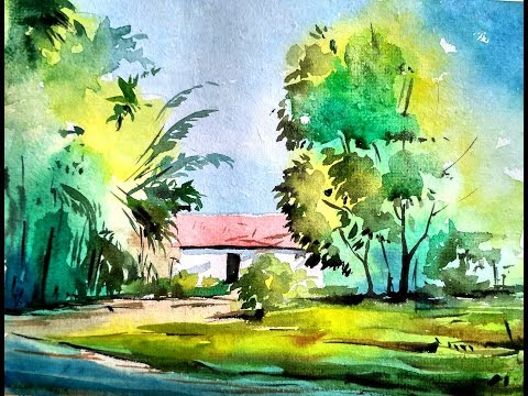 Watercolor Landscape Painting Tutorial for Beginners | Paint with david