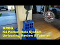Kreg K4 Pocket Hole Jig unboxing, review and tutorial K4H