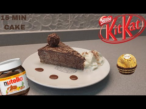 Easy NUTELLA CAKE | KITKAT CAKE | NO BAKE | 3 INGREDIENTS | 20 MINS | UNSEEN RECIPE