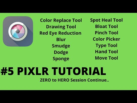 5 Pixlr Tutorial Color Replace Red Eye Blur Smudge Spot Heal