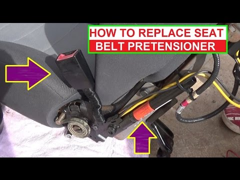 How to Remove and Replace Seat Belt Pretensioner. Demonstrated on Ford Escape / Mercury Mariner
