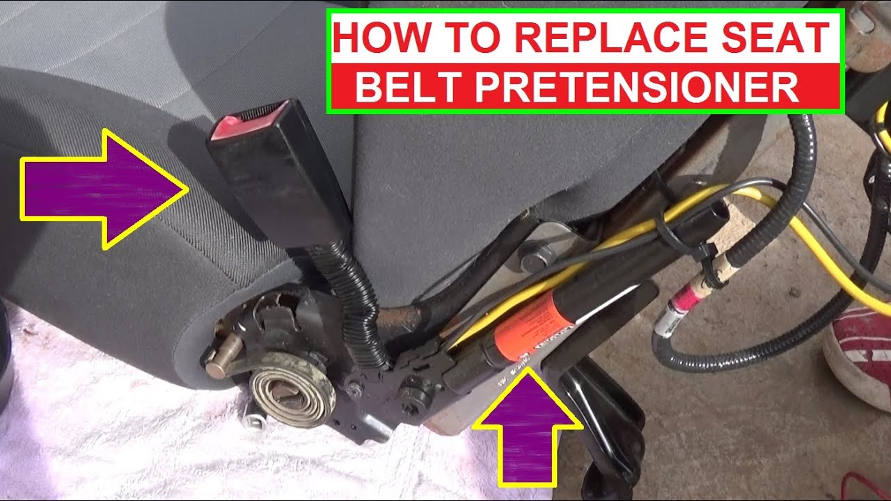 how to remove and replace seat belt pretensioner demonstrated on 3 pointed seat belt diagram seat belt wiring diagram mercury milan [ 1398 x 784 Pixel ]