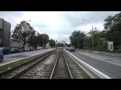 Tram line n 5, Bratislava, Slovakia, in cab view