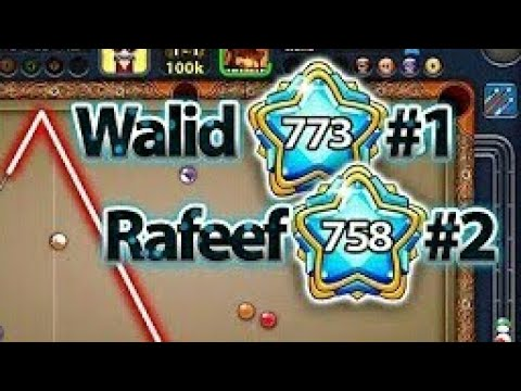 The new world highest level player in 8 ball pool 2018 walid damoin 773  with 2700b total wining