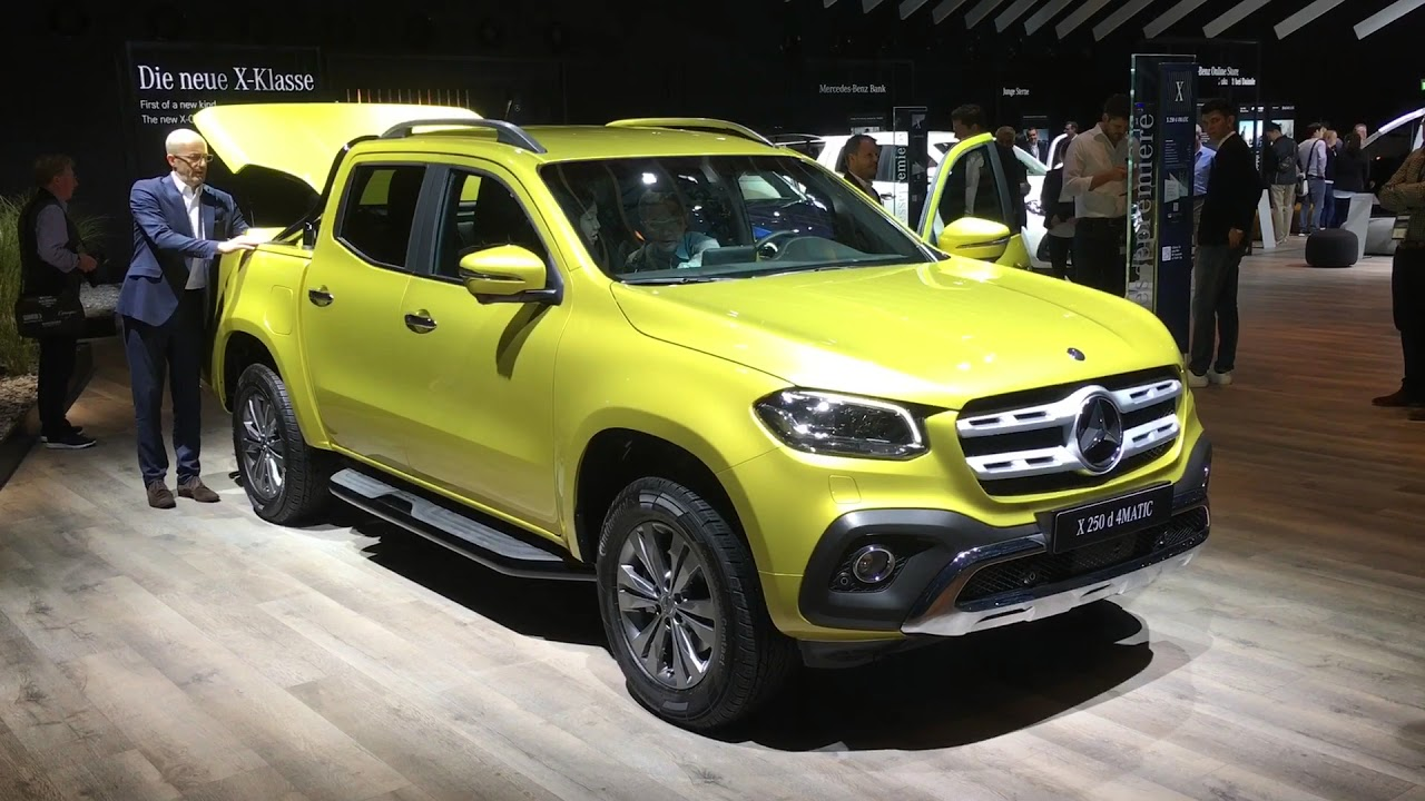 X marks the class this is the 2018 mercedes benz x class for Mercedes benz global