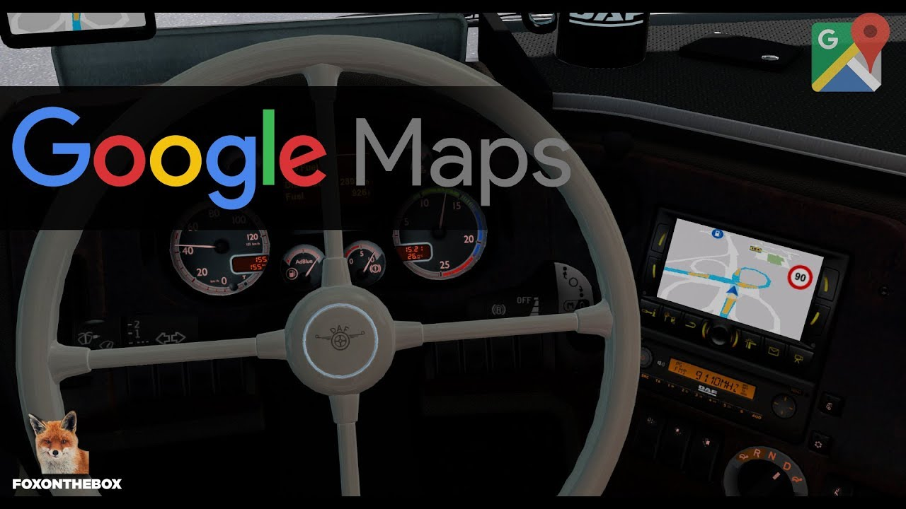 google maps navigation gps euro truck simulator 2. Black Bedroom Furniture Sets. Home Design Ideas
