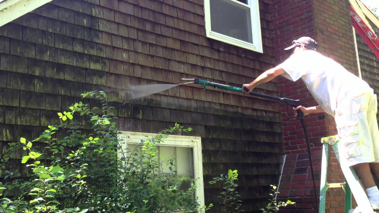 Cedar Shingle Washing Roofcleaningma Com Youtube