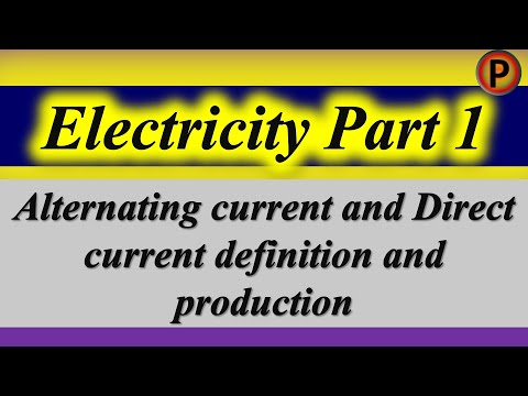 12p1301 IN HINDI Alternating current & Direct current definition and production