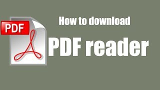 Gambar cover How to download Pdf Reader for free