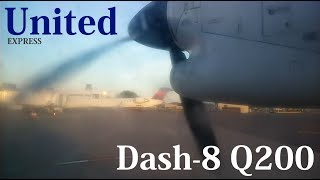 United Express Dash-8 Q200 Takeoff From Syracuse (SYR)