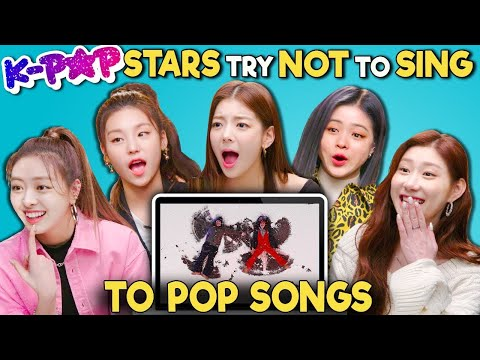 K-pop Stars React To Try Not To Sing Along Challenge (ITZY 있지)