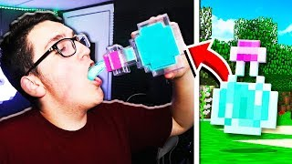 MINECRAFT ITEMS IN REAL LIFE CHALLENGE!