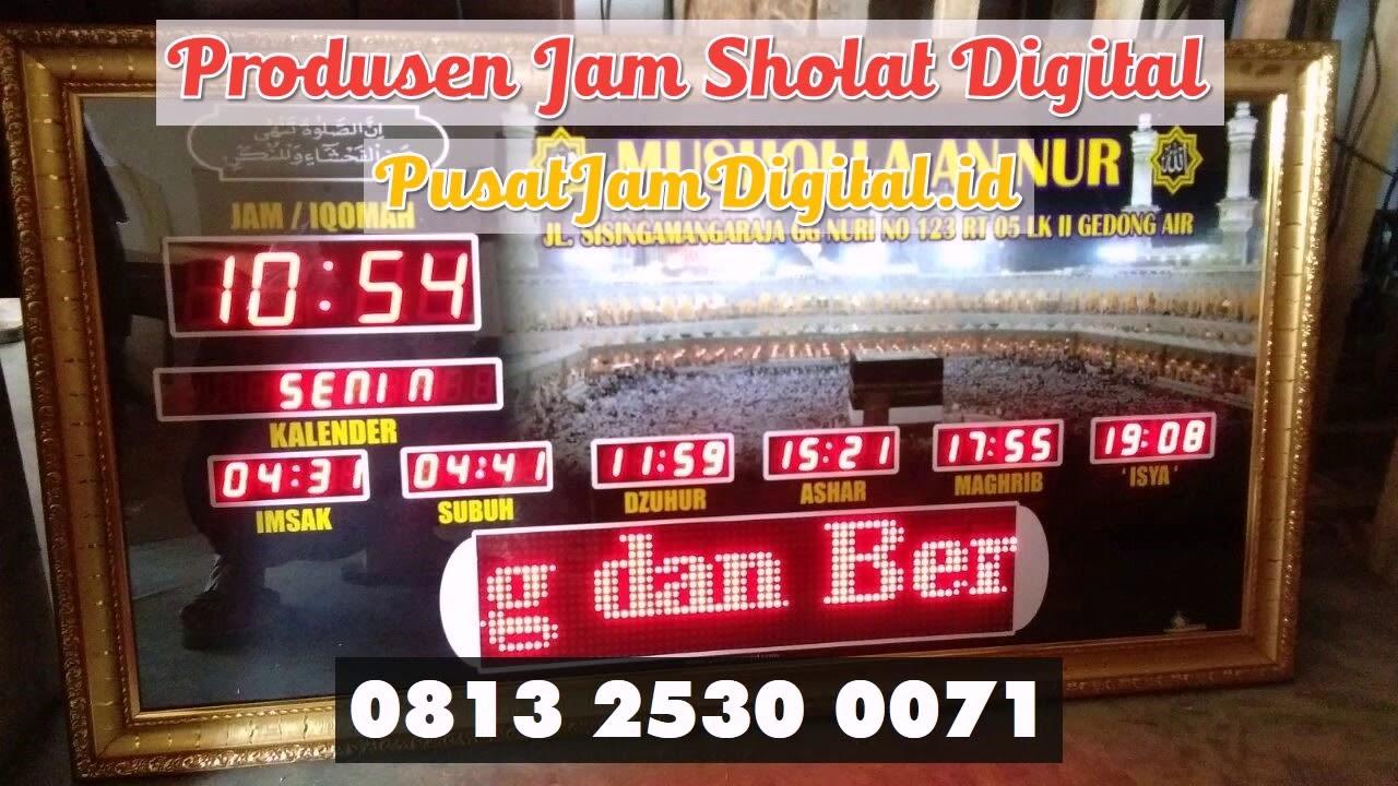 Jam Digital Masjid Hulu Sungai Tengah WA 0813 2530 0071