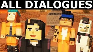 Mighty Army - All Dialogues - Minecraft: Story Mode Season 2 Episode 4: Below The Bedrock