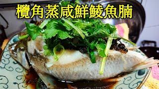〈 職人吹水〉 陳皮欖角蒸咸鮮鯪魚腩