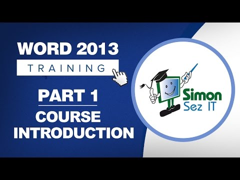 Word 2013 for Beginners Part 1: An Introduction to Using Word 2013