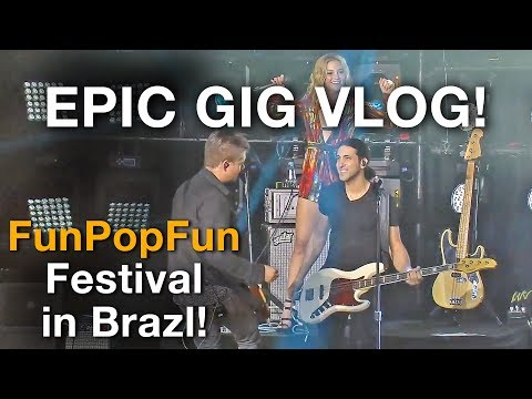 Download Youtube: Gig Vlog - Playing on the big stage in Brazil! - Vevo FunPopFun Festival
