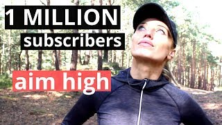 THANK YOU - 1 Million Subscribers - Motivational message - Chase your dreams &  YES I CAN