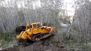 Bulldozer making logging roads