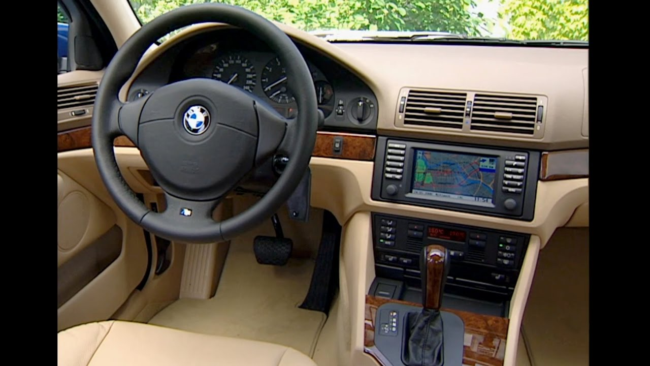 2001 BMW 525i (5 Series E39) - Interior - YouTube